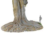 Gigantyczne drzewo w dżungli 3d model