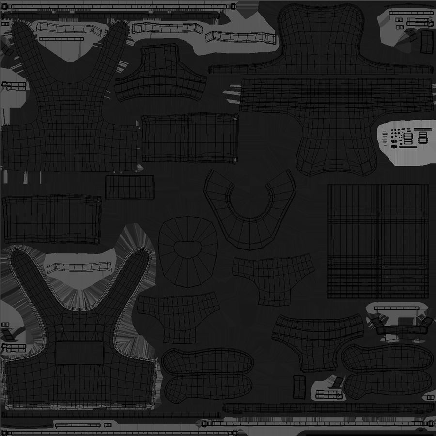 Armadura royalty-free modelo 3d - Preview no. 27