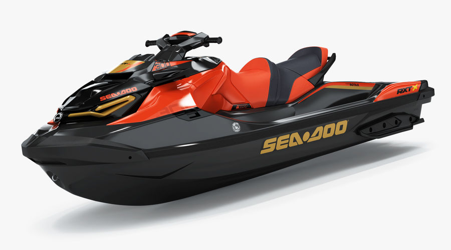 Sea-Doo RXT-X 300 Red Performance Watercraft 2019 royalty-free 3d model - Preview no. 5