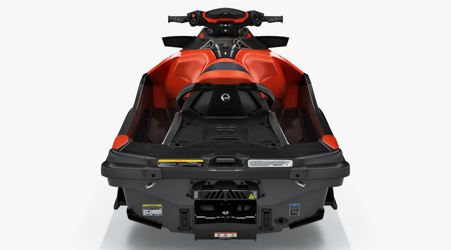 Sea-Doo RXT-X 300 Red Performance Watercraft 2019 royalty-free 3d model - Preview no. 8