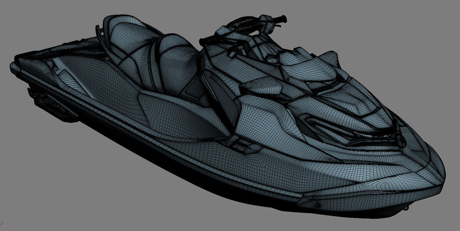 Sea-Doo RXT-X 300 Red Performance Watercraft 2019 royalty-free 3d model - Preview no. 19