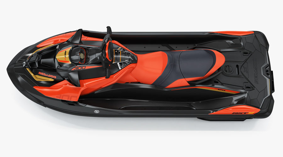 Sea-Doo RXT-X 300 Red Performance Watercraft 2019 royalty-free 3d model - Preview no. 10