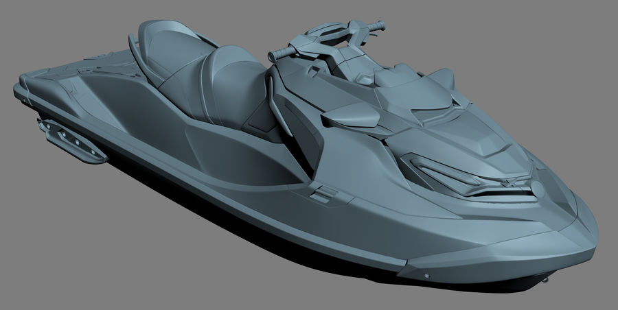Sea-Doo RXT-X 300 Red Performance Watercraft 2019 royalty-free 3d model - Preview no. 16