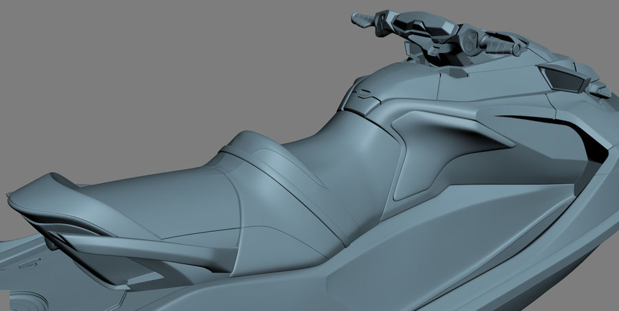Sea-Doo RXT-X 300 Red Performance Watercraft 2019 royalty-free 3d model - Preview no. 24