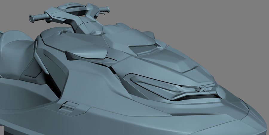 Sea-Doo RXT-X 300 Red Performance Watercraft 2019 royalty-free 3d model - Preview no. 26