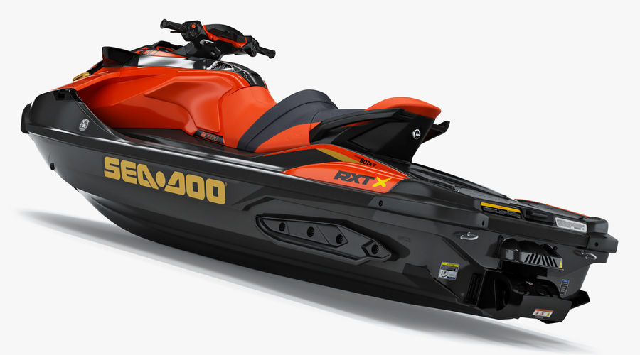 Sea-Doo RXT-X 300 Red Performance Watercraft 2019 royalty-free 3d model - Preview no. 7
