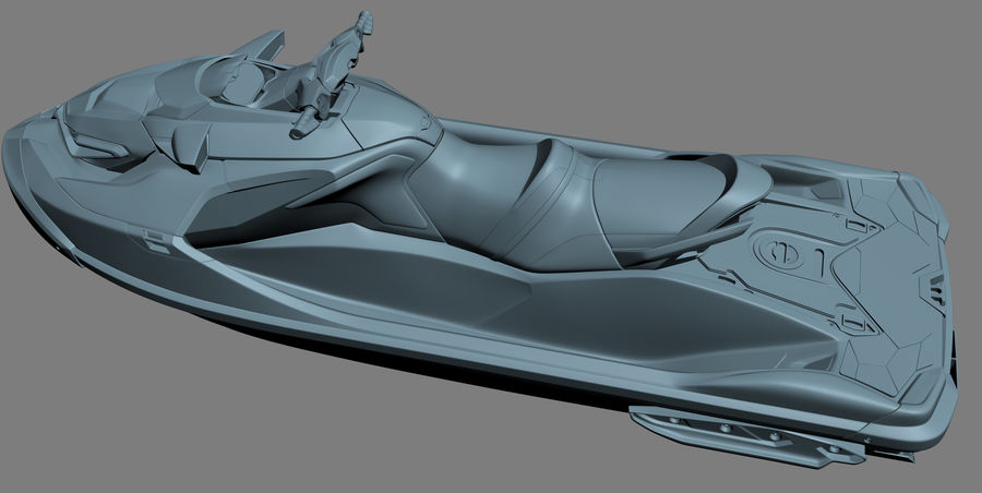 Sea-Doo RXT-X 300 Red Performance Watercraft 2019 royalty-free 3d model - Preview no. 20