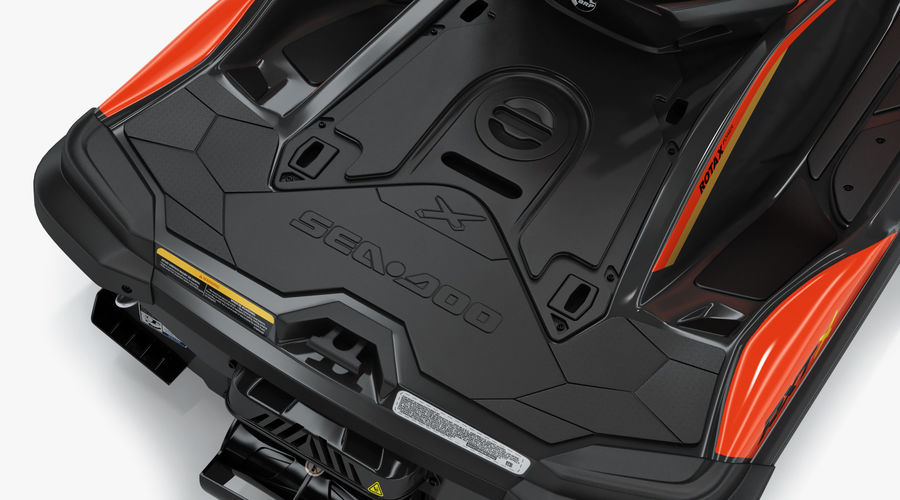 Sea-Doo RXT-X 300 Red Performance Watercraft 2019 royalty-free 3d model - Preview no. 15