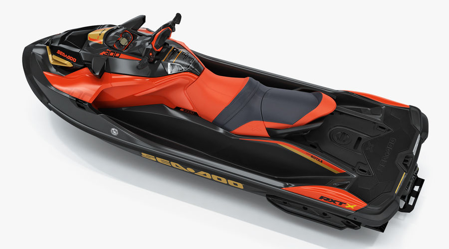 Sea-Doo RXT-X 300 Red Performance Watercraft 2019 royalty-free 3d model - Preview no. 4