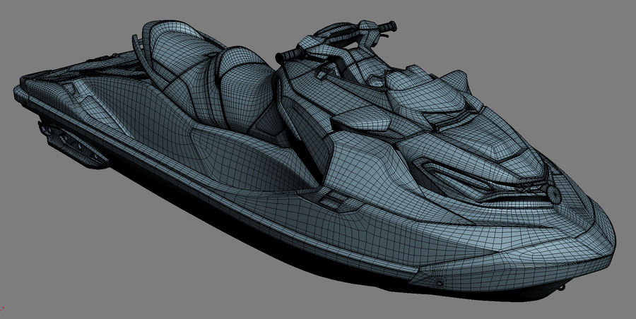 Sea-Doo RXT-X 300 Red Performance Watercraft 2019 royalty-free 3d model - Preview no. 18