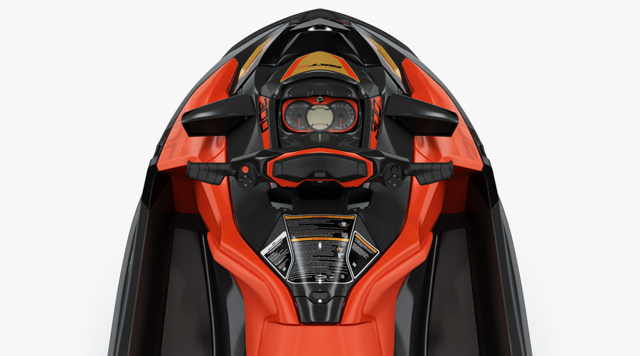 Sea-Doo RXT-X 300 Red Performance Watercraft 2019 royalty-free 3d model - Preview no. 12