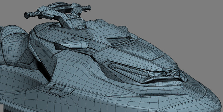 Sea-Doo RXT-X 300 Red Performance Watercraft 2019 royalty-free 3d model - Preview no. 27