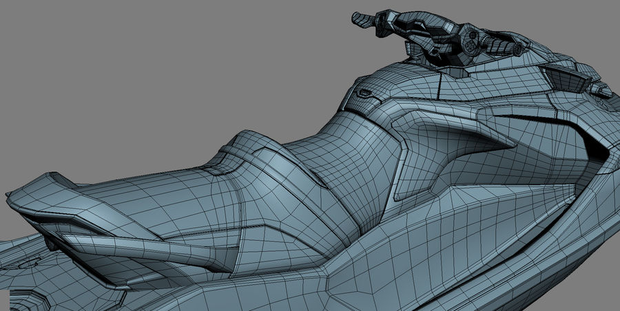 Sea-Doo RXT-X 300 Red Performance Watercraft 2019 royalty-free 3d model - Preview no. 25