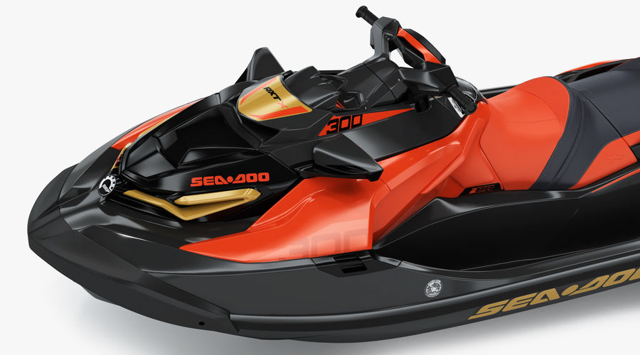 Sea-Doo RXT-X 300 Red Performance Watercraft 2019 royalty-free 3d model - Preview no. 11