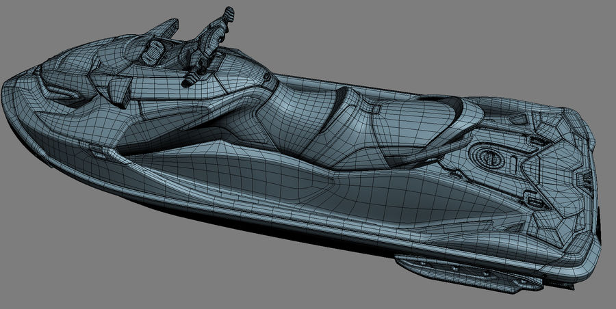 Sea-Doo RXT-X 300 Red Performance Watercraft 2019 royalty-free 3d model - Preview no. 21