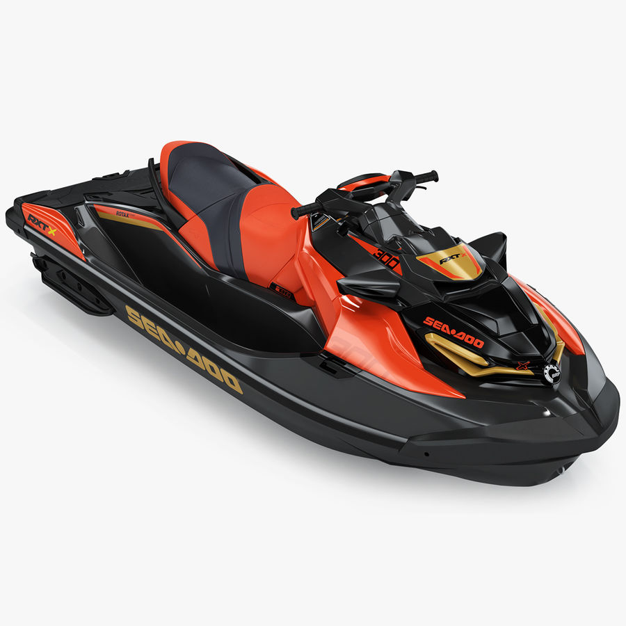 Sea-Doo RXT-X 300 Red Performance Watercraft 2019 royalty-free 3d model - Preview no. 1