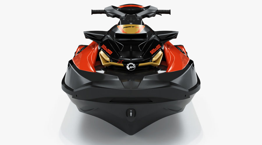 Sea-Doo RXT-X 300 Red Performance Watercraft 2019 royalty-free 3d model - Preview no. 9