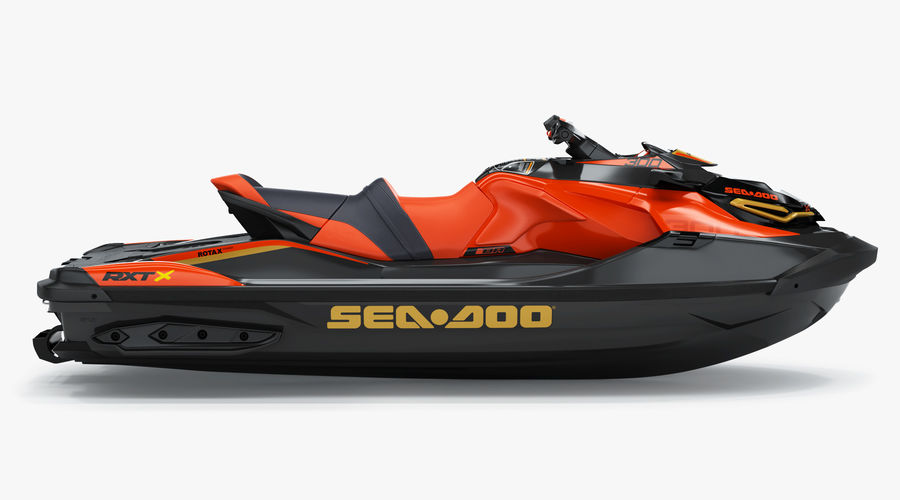 Sea-Doo RXT-X 300 Red Performance Watercraft 2019 royalty-free 3d model - Preview no. 3