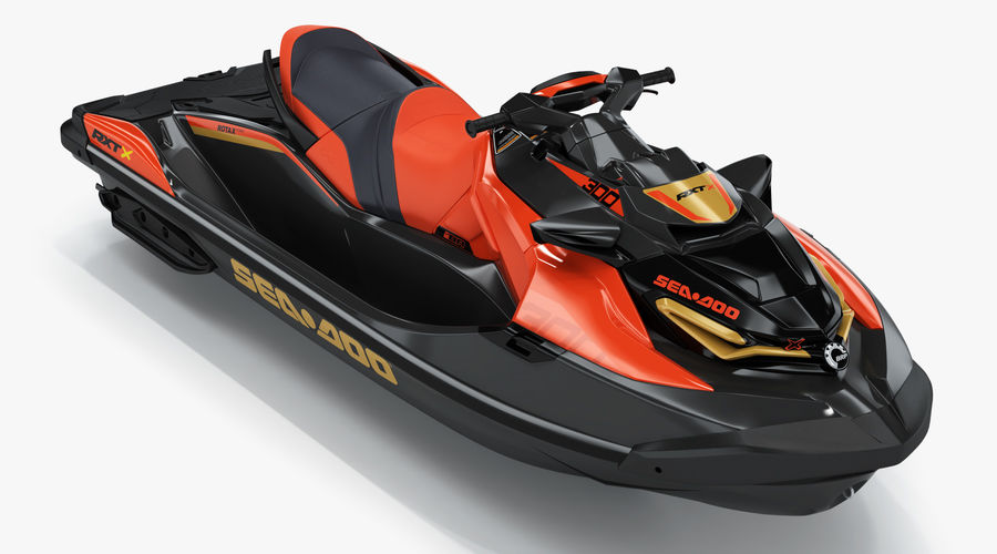 Sea-Doo RXT-X 300 Red Performance Watercraft 2019 royalty-free 3d model - Preview no. 2