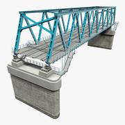 Spoorbrug sectie 3D-model 3d model