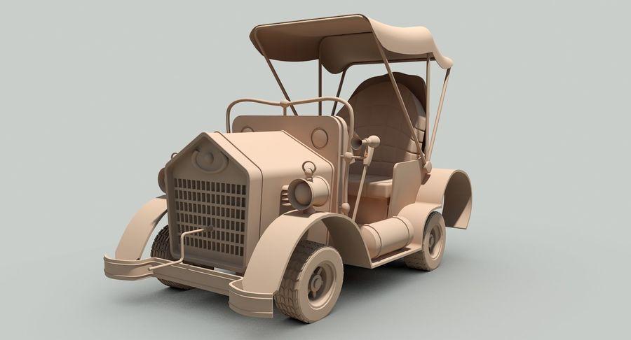 Cartoon Steampunk Car royalty-free 3d model - Preview no. 16
