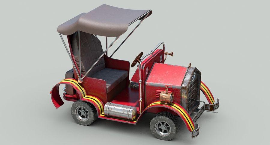 Cartoon Steampunk Car royalty-free 3d model - Preview no. 10