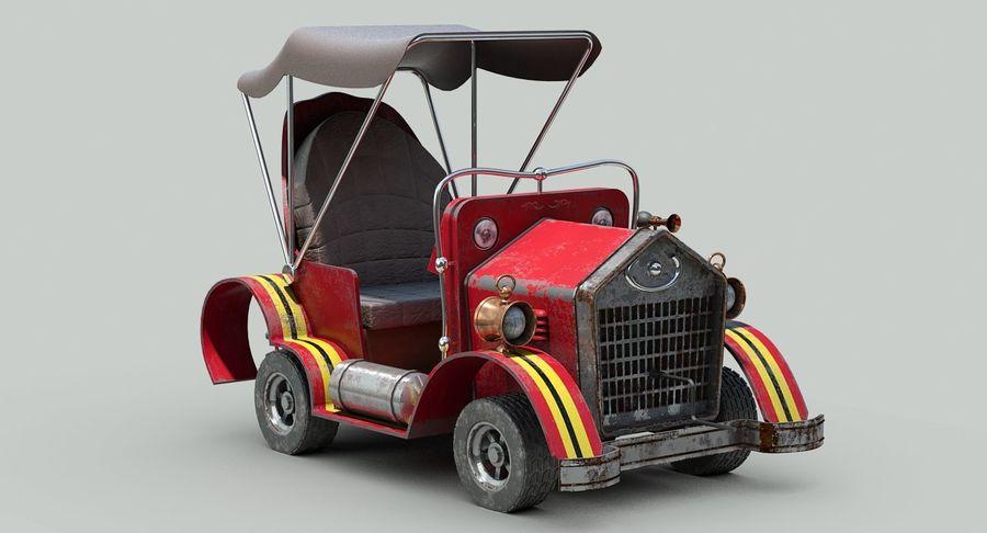 Cartoon Steampunk Car royalty-free 3d model - Preview no. 9