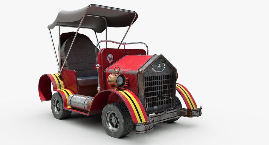 Cartoon Steampunk Car royalty-free 3d model - Preview no. 2