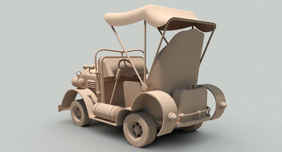 Cartoon Steampunk Car royalty-free 3d model - Preview no. 19