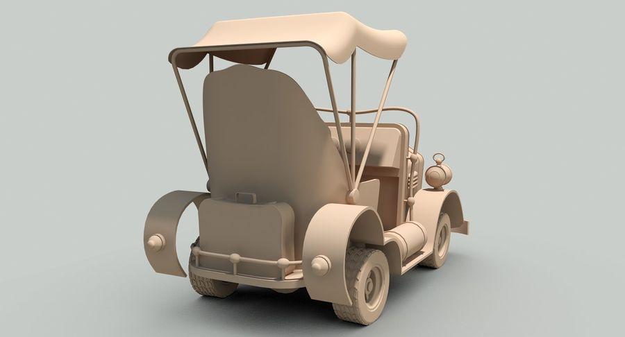 Cartoon Steampunk Car royalty-free 3d model - Preview no. 18