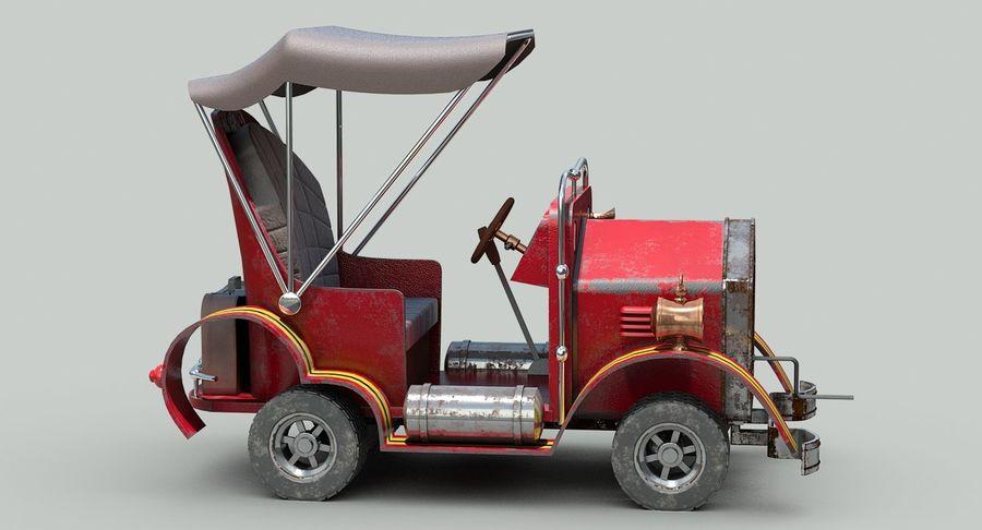 Cartoon Steampunk Car royalty-free 3d model - Preview no. 8