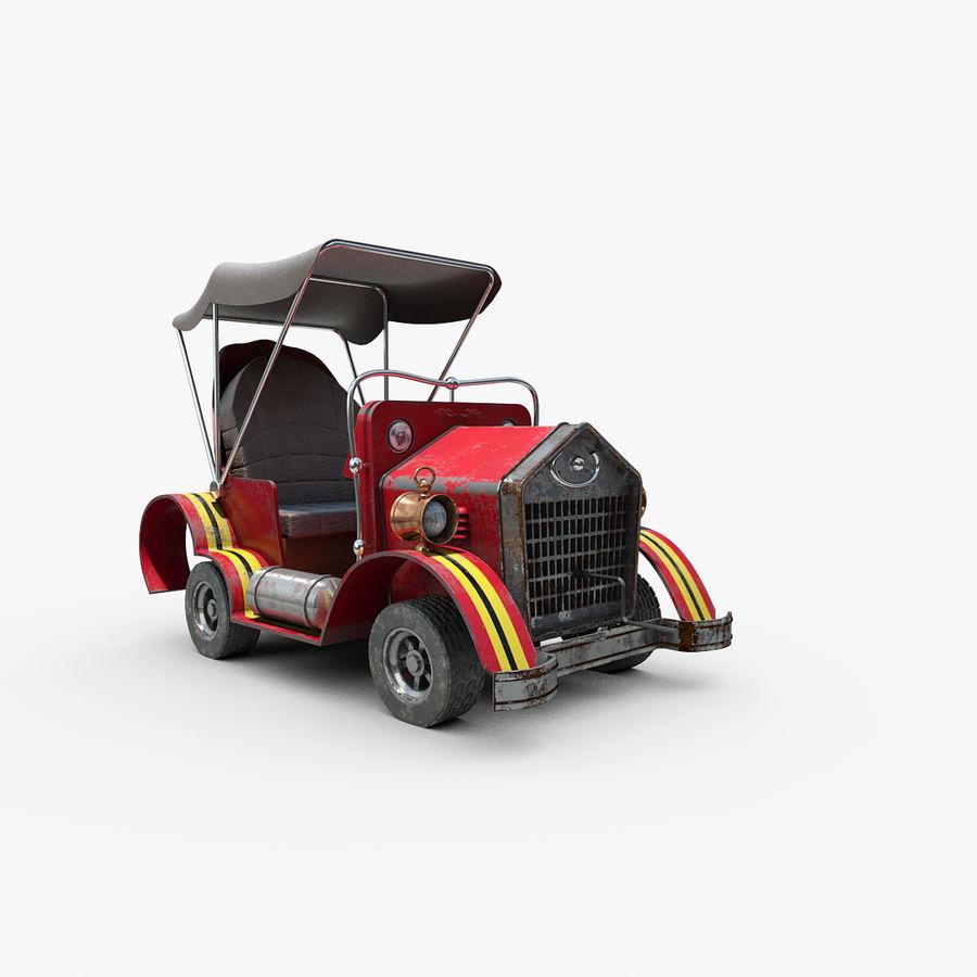 Cartoon Steampunk Car royalty-free 3d model - Preview no. 1