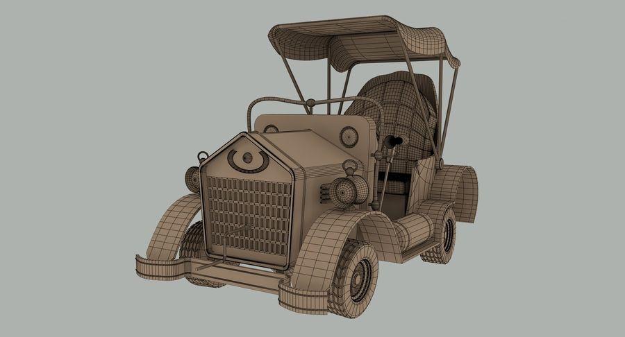 Cartoon Steampunk Car royalty-free 3d model - Preview no. 12