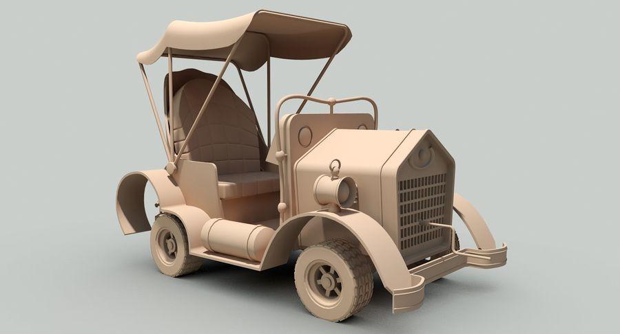 Cartoon Steampunk Car royalty-free 3d model - Preview no. 17