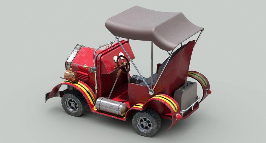 Cartoon Steampunk Car royalty-free 3d model - Preview no. 11