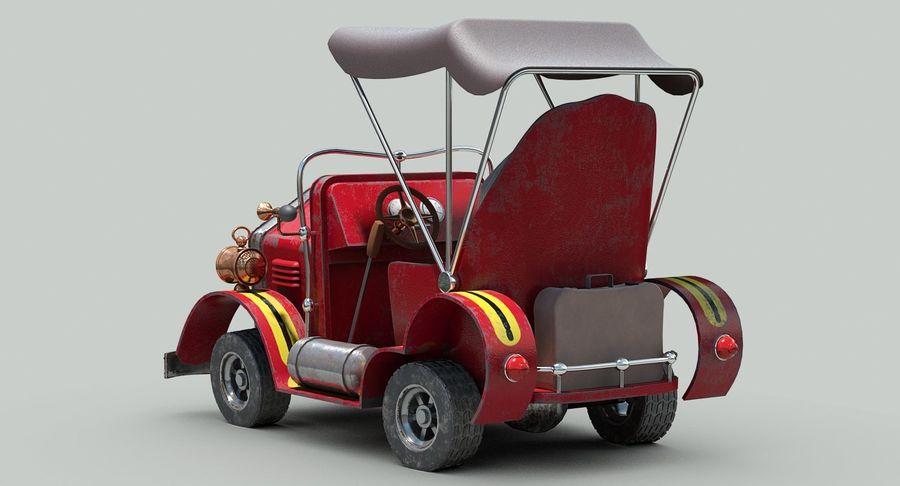 Cartoon Steampunk Car royalty-free 3d model - Preview no. 6
