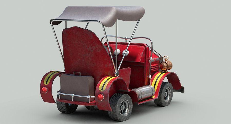 Cartoon Steampunk Car royalty-free 3d model - Preview no. 7