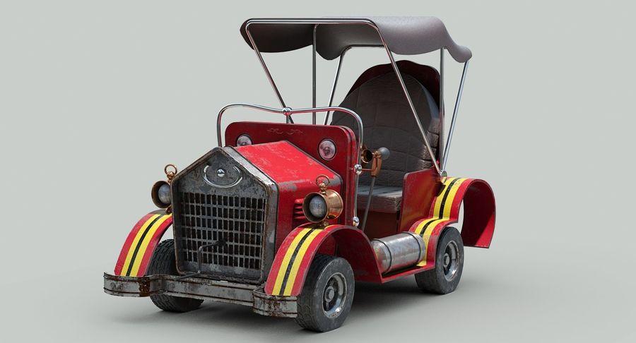 Cartoon Steampunk Car royalty-free 3d model - Preview no. 4