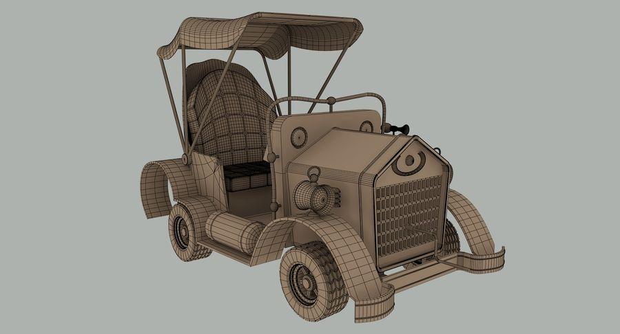 Cartoon Steampunk Car royalty-free 3d model - Preview no. 13