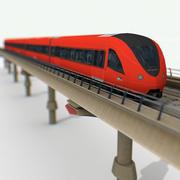 Spoorweg Metro 3d model