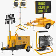 Four Construction Equipment 3d model