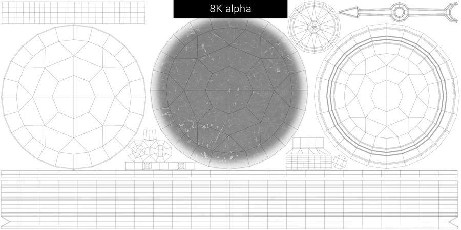 Gammalt kompass, riggat, högt och lågt poly, PBR royalty-free 3d model - Preview no. 28