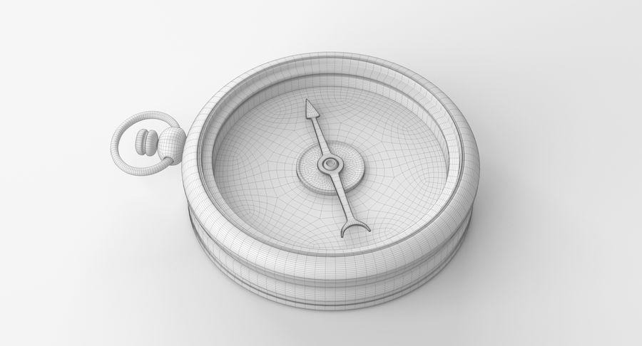 Gammalt kompass, riggat, högt och lågt poly, PBR royalty-free 3d model - Preview no. 11