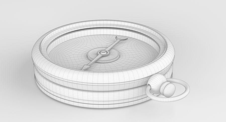 Gammalt kompass, riggat, högt och lågt poly, PBR royalty-free 3d model - Preview no. 8