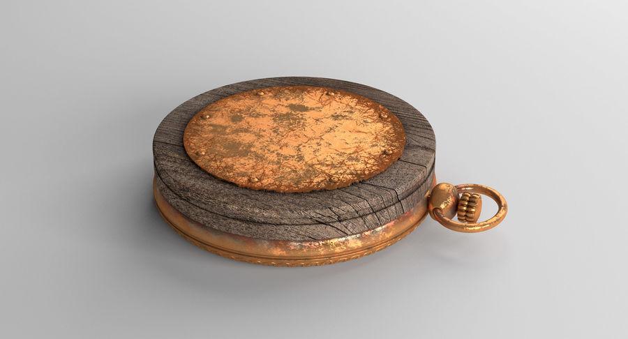 Gammalt kompass, riggat, högt och lågt poly, PBR royalty-free 3d model - Preview no. 19