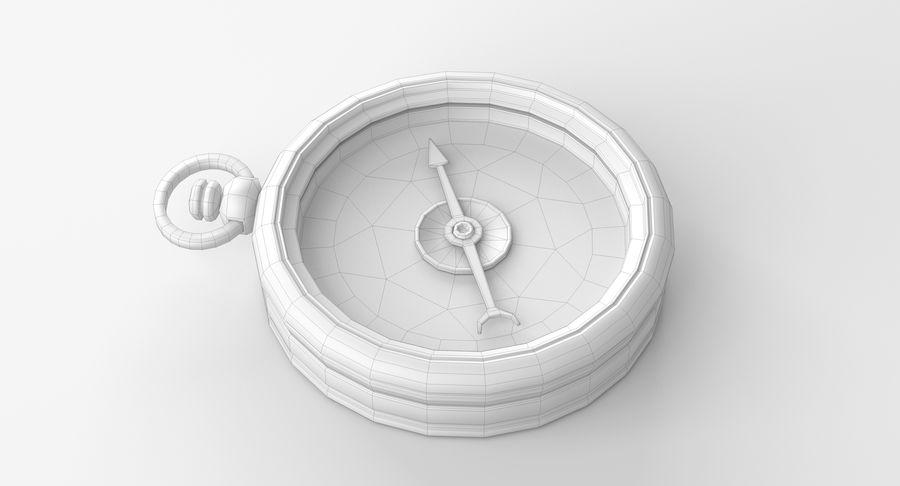 Gammalt kompass, riggat, högt och lågt poly, PBR royalty-free 3d model - Preview no. 12