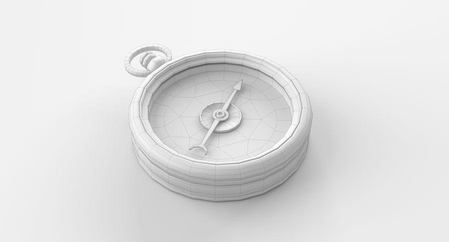 Gammalt kompass, riggat, högt och lågt poly, PBR royalty-free 3d model - Preview no. 5