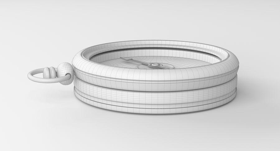 Gammalt kompass, riggat, högt och lågt poly, PBR royalty-free 3d model - Preview no. 14