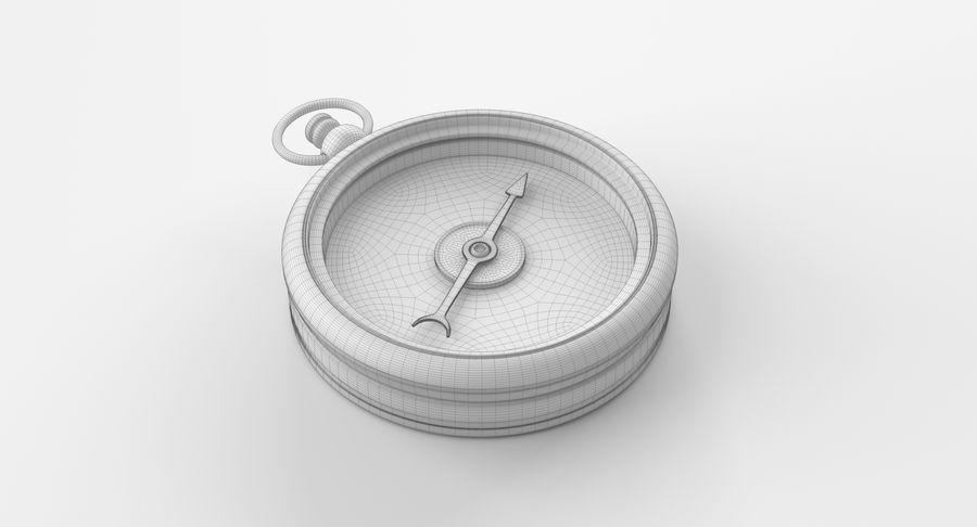 Gammalt kompass, riggat, högt och lågt poly, PBR royalty-free 3d model - Preview no. 4