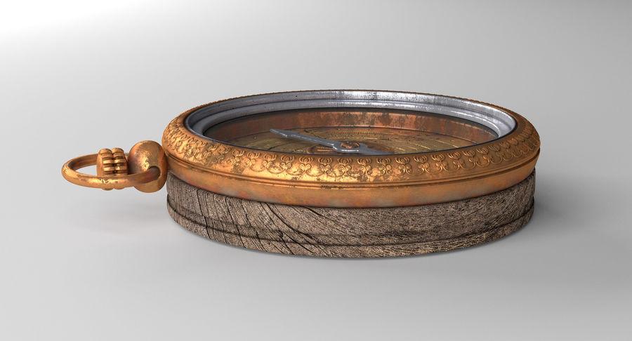 Gammalt kompass, riggat, högt och lågt poly, PBR royalty-free 3d model - Preview no. 13